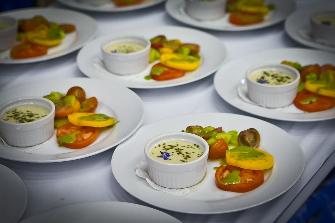 Carousel-Catering-Inc-Off-Broadway-Surprise-Soup-and-Heirloom-Tomato-Salad