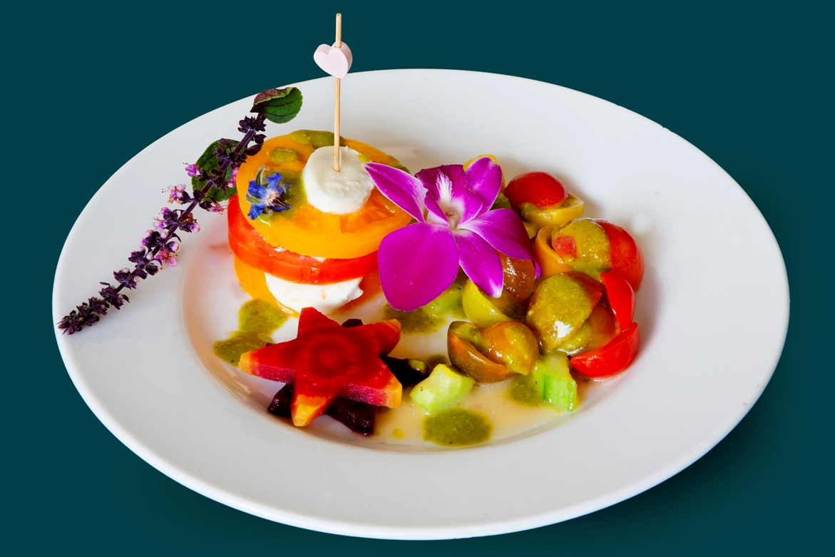 Carousel-Catering-Inc-Salad-Caprice-with-Borage-Flower
